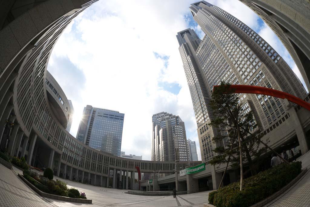 foto,tela,gratis,paisaje,fotograf�a,idea,Gobierno Metropolitano de Tokio, Torre, Subcenter, Gobierno metropolitano de Tokyo, Edificio