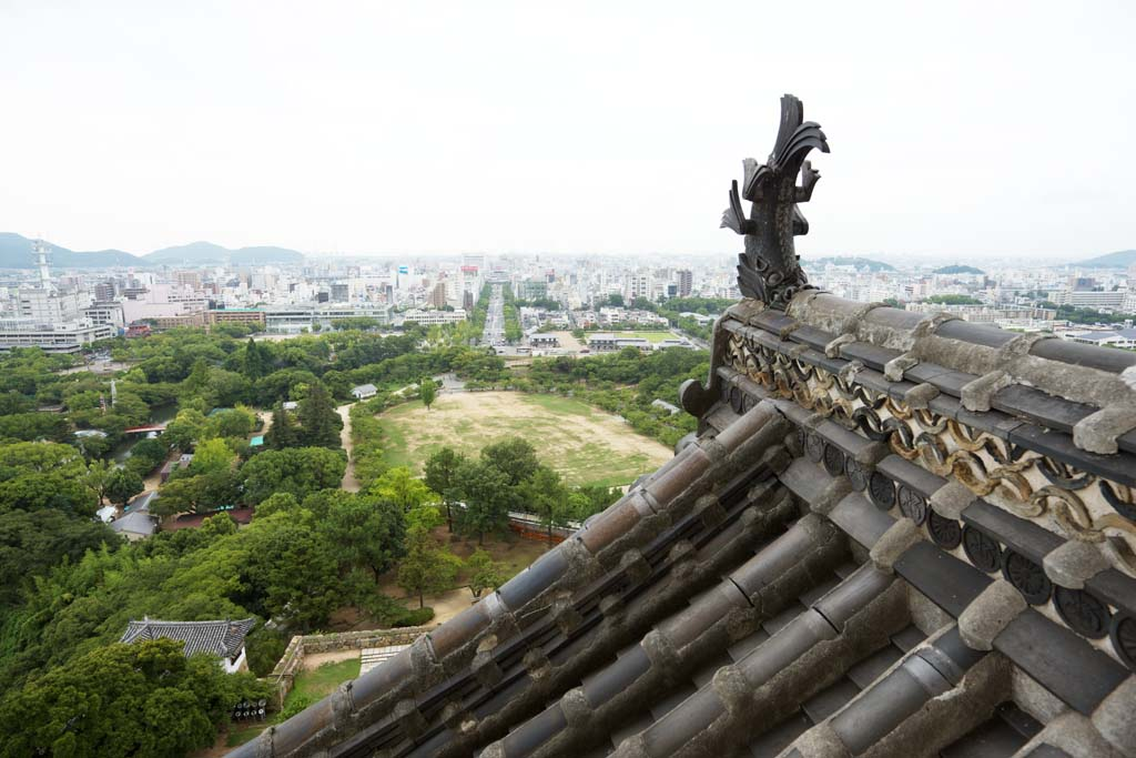 photo,material,free,landscape,picture,stock photo,Creative Commons,The scenery from Himeji-jo Castle, Four national treasures Castle, Sadanori Akamatsu, Shigetaka Kuroda, Hideyoshi Hashiba