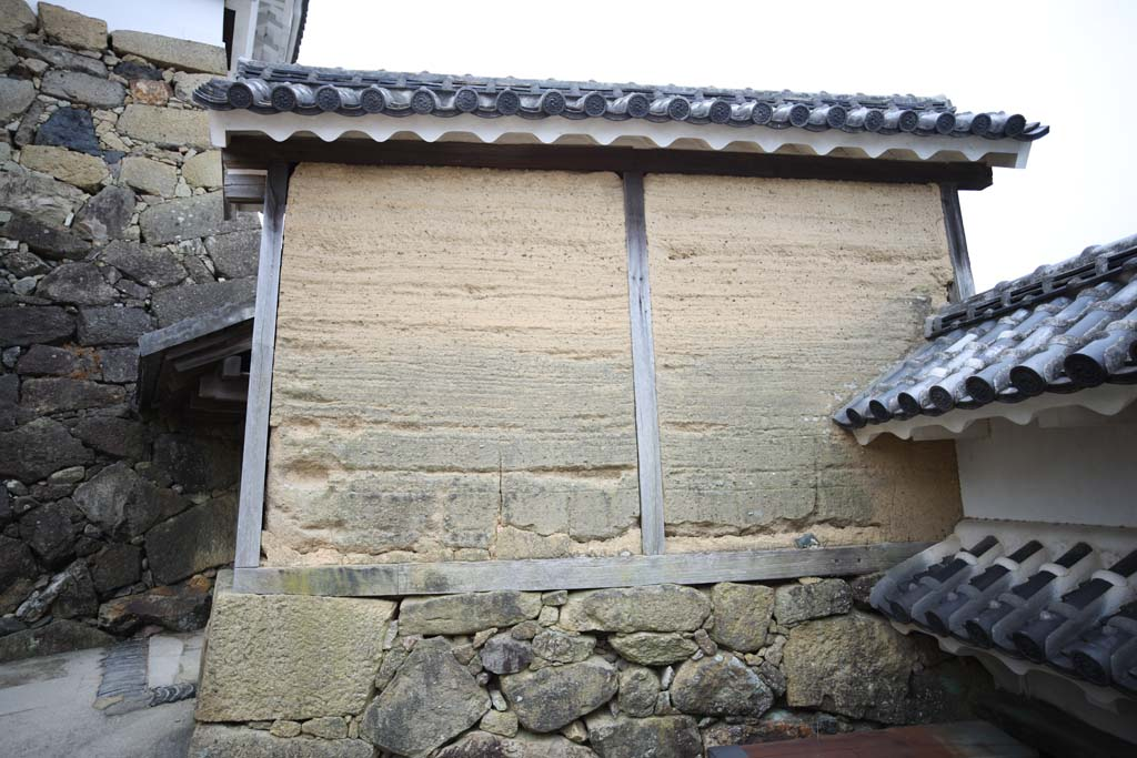 photo, la matière, libre, aménage, décrivez, photo de la réserve,Himeji-jo mur de l'huile du Château, Quatre Château des trésors national, Sadanori Akamatsu, Shigetaka Kuroda, Hideyoshi Hashiba