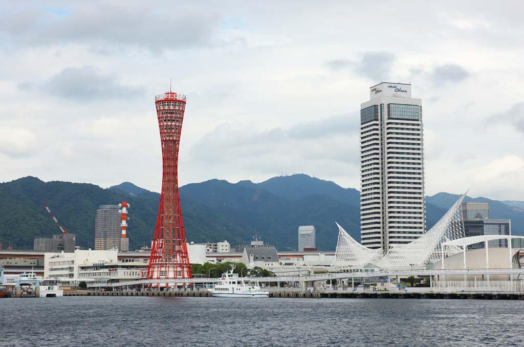 照片,素材,免费,自由,照片,加工,风景,Photo神户港, 港口, 船, 贸易, 旅游景点