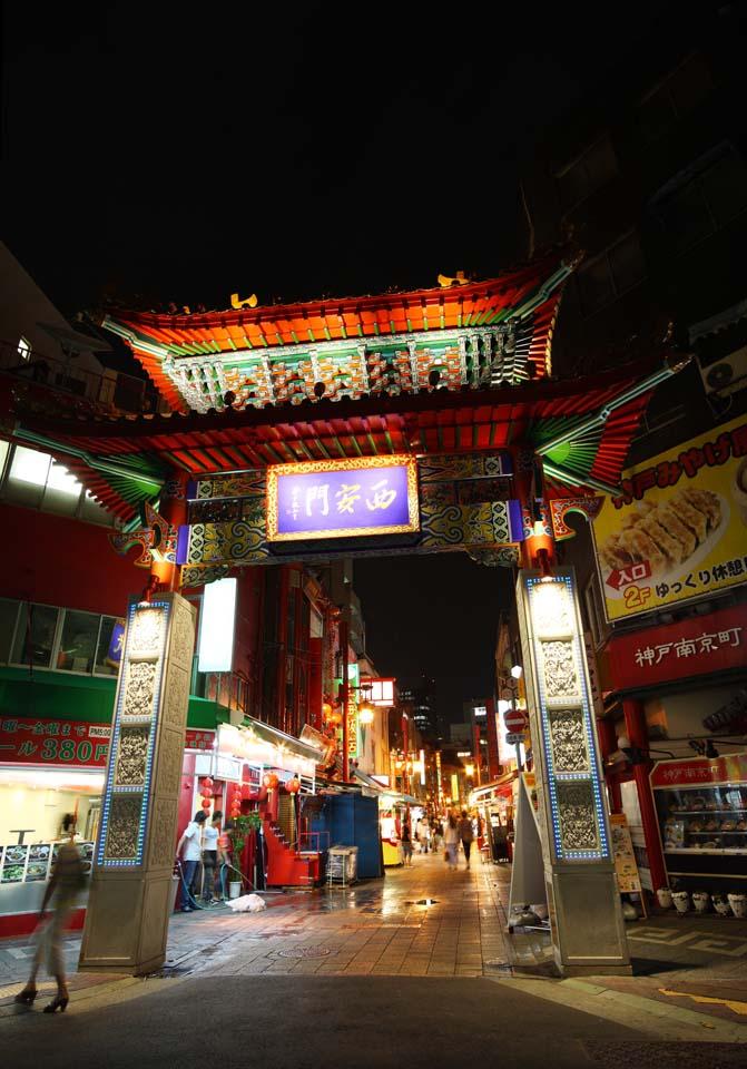 照片,素材,免费,自由,照片,加工,风景,Photo南京城市神户, 唐人街, 商场, 市区, 中国