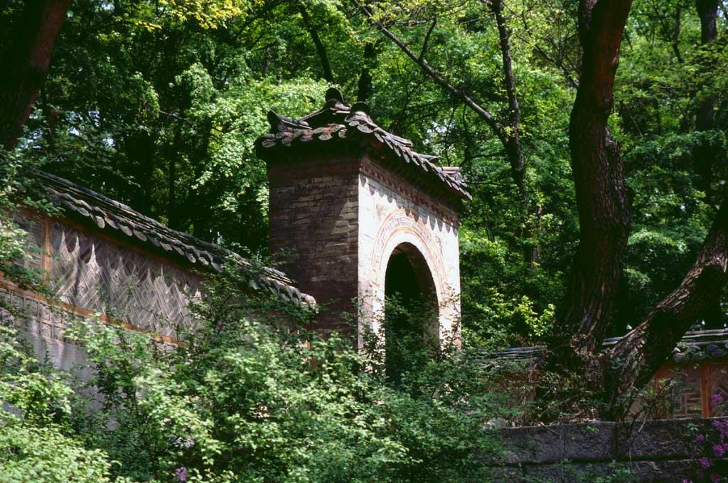 写真,素材,無料,フリー,フォト,クリエイティブ・コモンズ,風景,壁紙,緑に埋もれる門, 宮殿, 門, ,