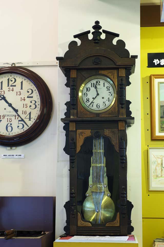 写真,素材,無料,フリー,フォト,クリエイティブ・コモンズ,風景,壁紙,古時計, 時計, 振り子, 文字盤, 針