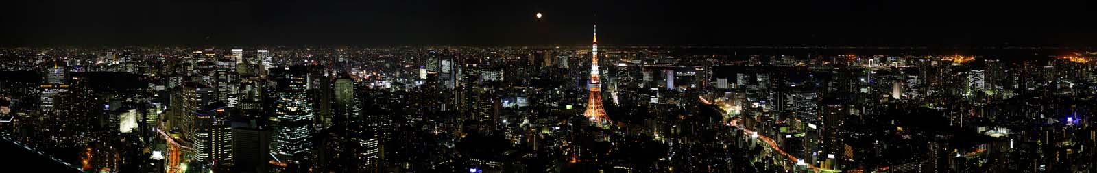 photo,material,free,landscape,picture,stock photo,Creative Commons,Tokyo panorama, Tokyo Tower, high-rise building, big city, knight view