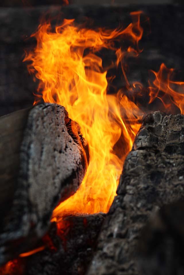 写真,素材,無料,フリー,フォト,クリエイティブ・コモンズ,風景,壁紙,石上神宮 焚き火, 日本書紀, 聖火, 焚火, たき火