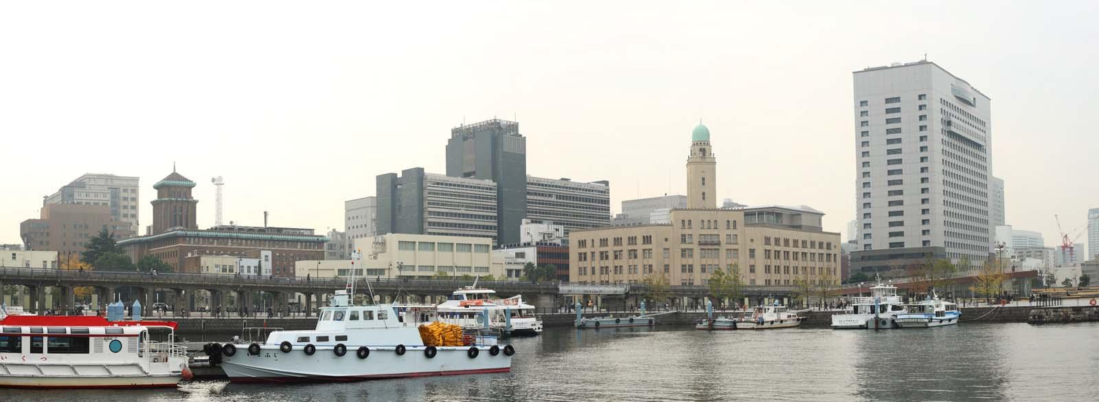 photo, la mati�re, libre, am�nage, d�crivez, photo de la r�serve,Port de Yokohama, Maison de coutumes Yokohama, Le bureau de prefectural Kanagawa, bateau, construire