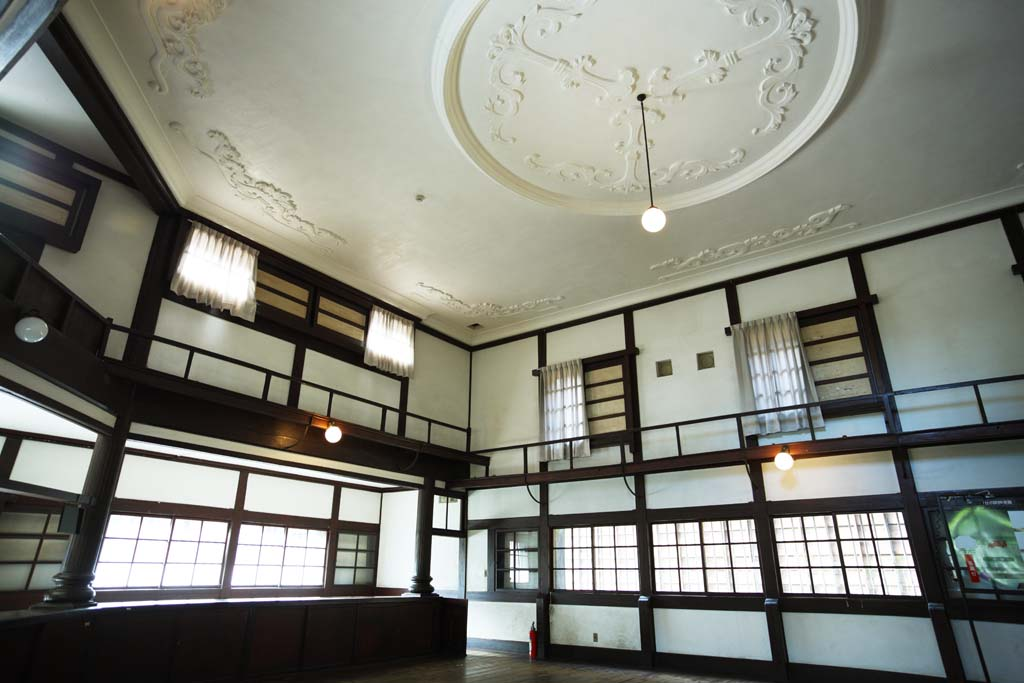 Foto, materieel, vrij, landschap, schilderstuk, bevoorraden foto,Meiji-mura Village Museum Yasuda bank Aizu Branch, Gebouw van de Meiji, De Westernization, Westelijke-trant gebouw, Cultureel heritage