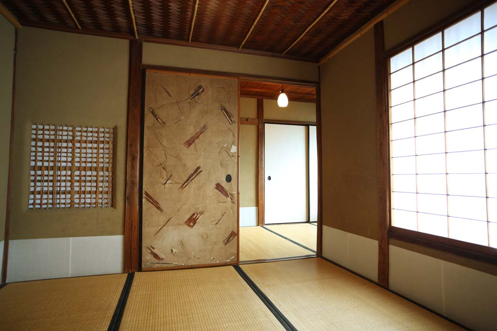 photo,material,free,landscape,picture,stock photo,Creative Commons,Meiji-mura Village Museum Kinmochi Saionji another house, sliding paper-door, shoji, Japanese-style building, Cultural heritage