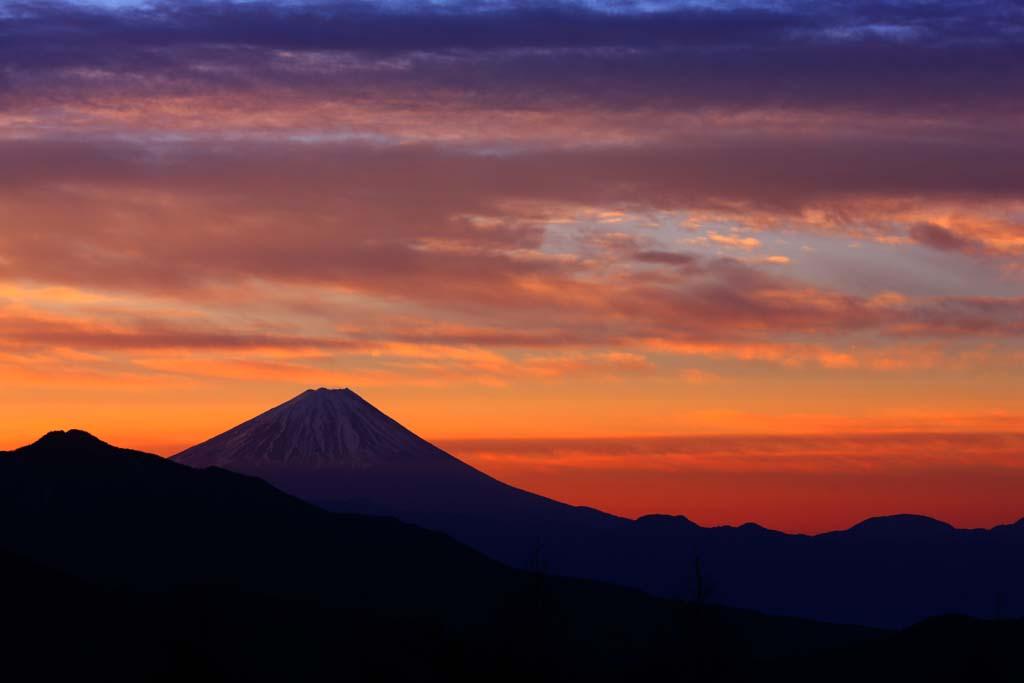 צילום, חינם גשמי, נוף, מדמין, צילום של מלאי ,הבוקר של הר. פוג'י, הר. פוג'י, להט הבוקר, ענן, צבע