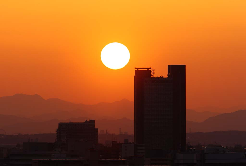 Foto, materieel, vrij, landschap, schilderstuk, bevoorraden foto,De instelling zon welk stelt, Instelling zon, Rood, De zon, Bij donker